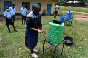 The Water Project: Kabinjari Primary School -  Handwashing