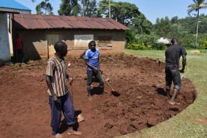 The Water Project: Friends Mudindi Village Primary School -  Excavation Process