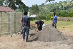 The Water Project: Friends Mudindi Village Primary School -  Cement Work