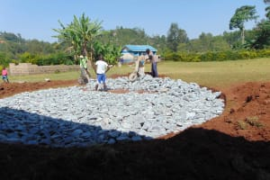 The Water Project: Friends Mudindi Village Primary School -  Stone Filling