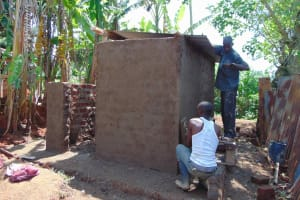The Water Project: Friends Mudindi Village Primary School -  Latrine Roofing