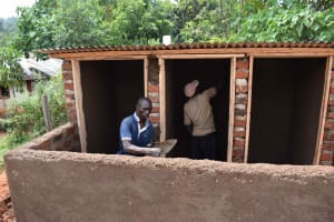 The Water Project: Friends Mudindi Village Primary School -  Latrines Plaster Works