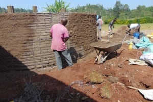 The Water Project: Friends Mudindi Village Primary School -  Plaster Work Outside