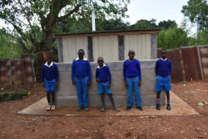 The Water Project: Friends Mudindi Village Primary School -  Boys At Latrines