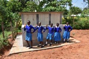 The Water Project: Friends Mudindi Village Primary School -  Girls Latrines