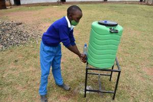 The Water Project: Friends Mudindi Village Primary School -  Handwashing Demonstration