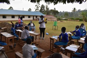 The Water Project: Friends Mudindi Village Primary School -  Making A Leaky Tin