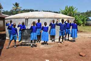 The Water Project: Friends Mudindi Village Primary School -  Students At Water Point