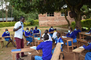 The Water Project: Friends Mudindi Village Primary School -  Tooth Brushing Demonstration