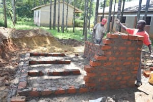 The Water Project: Petros Primary School -  Latrine Construction