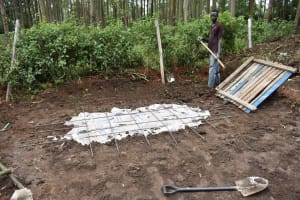 The Water Project: Petros Primary School -  Latrine Foundation
