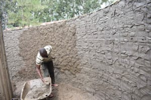 The Water Project: Petros Primary School -  Plastering