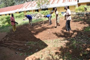 The Water Project: Petros Primary School -  Preparing Foundation
