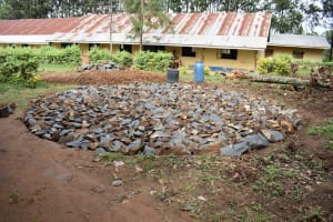 The Water Project: Petros Primary School -  Tank Foundation