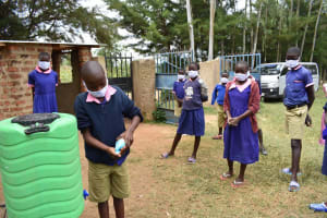 The Water Project: Petros Primary School -  Washing Hands