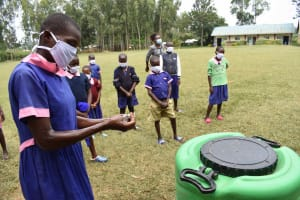 The Water Project: Petros Primary School -  Handwashing Demonstration