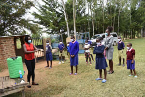 The Water Project: Petros Primary School -  Handwashing Training