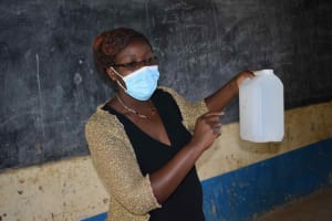 The Water Project: Petros Primary School -  Jacky Handwashing