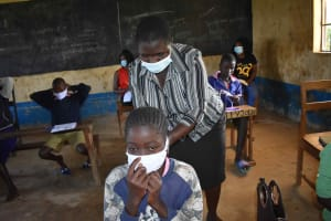 The Water Project: Petros Primary School -  Mask Training