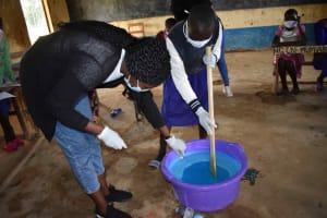 The Water Project: Petros Primary School -  Mixing Soap