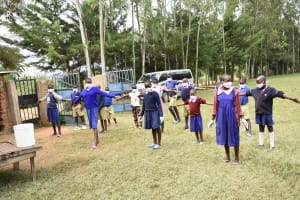 The Water Project: Petros Primary School -  Physical Distancing
