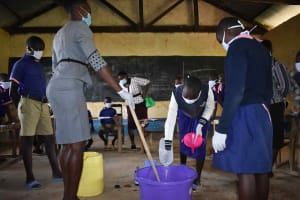 The Water Project: Petros Primary School -  Preparing Soap