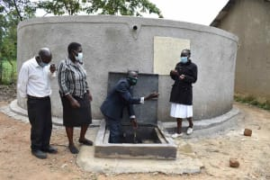 The Water Project: Petros Primary School -  Spashing Water