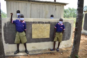 The Water Project: Petros Primary School -  Boys At Latrine