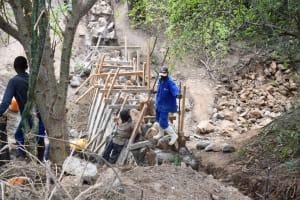 The Water Project: Kathamba ngii Community B -  Dam Construction