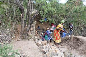 The Water Project: Kathamba ngii Community B -  Construction