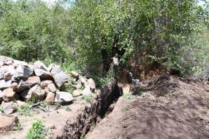 The Water Project: Kathamba ngii Community B -  Trench In Progress