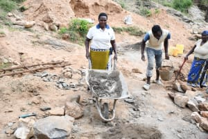The Water Project: Kitile B Village Sand Dam -  Construction