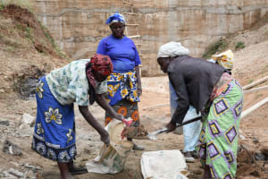 The Water Project: Kitile B Village Sand Dam -  Getting It Done