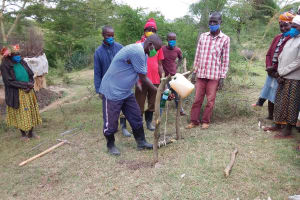 The Water Project: Kitile B Village Well -  Handwashing