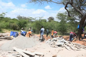 The Water Project: Kitile B Village Sand Dam -  Hard At Work