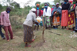 The Water Project: Kitile B Village Well -  Learning