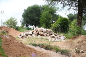 The Water Project: Kitile B Village Sand Dam -  Only Just Begun