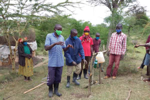 The Water Project: Kitile B Village Well -  Participation