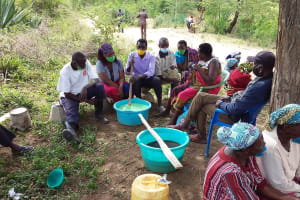 The Water Project: Kitile B Village Well -  Soap Making