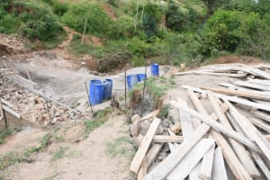 The Water Project: Kitile B Village Sand Dam -  Timber