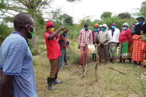 The Water Project: Kitile B Village Well -  Tippy Tap