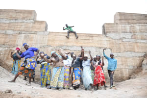 The Water Project: Kitile B Village Sand Dam -  Dancing