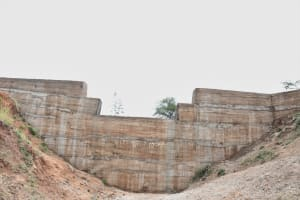 The Water Project: Kitile B Village Sand Dam -  From Below