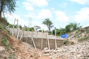 The Water Project: Kitile B Village Sand Dam -  In Progress
