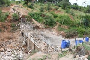 The Water Project: Kitile B Village Sand Dam -  Underway