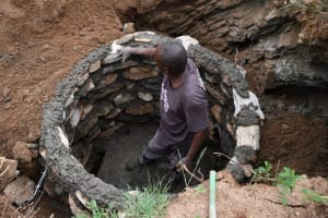 The Water Project: Kitile B Village Well -  Getting Taller