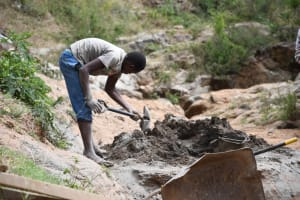 The Water Project: Kitile B Village Well -  Mixing