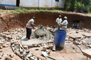 The Water Project: Mbiuni Primary School -  Foundations
