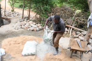 The Water Project: Mbiuni Primary School -  Mixing Cement