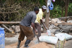 The Water Project: Mbiuni Primary School -  Mixing